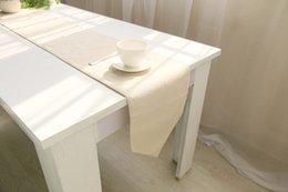 Toalha de mesa lisa on-line-Algodão de canto afiado do algodão do tablecloth do estilo country do corredor da tabela da cor e natural fresco de linho