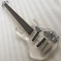 led-beleuchtung e-gitarre Rabatt Freie Verschiffen Qualität 4 Schnüre führten helle elektrische Bassacrylgitarre