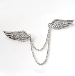 Fashion Crystal Broche épingle en métal ailes d/'ange Broche Unisexe Bijoux Accessoire