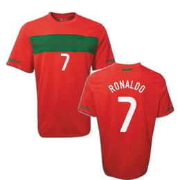 2019 cristiano ronaldo trikots Retro 2010 Cristiano Ronaldo # 7 Fußball Jersey nach Hause hochwertige Fußballtrikots nani 17 Figo 7 rabatt cristiano ronaldo trikots