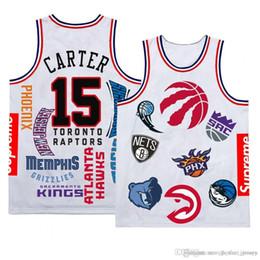 6b49d1861771 Mens 2019 New Toronto Jersey Raptors Vince 15 Carter SUPTracy 1 McGrady Basketball  Jerseys Mesh Retro