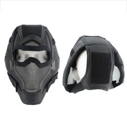 bufanda del airsoft Rebajas Cazador de bicicleta Máscara de cara completa Transpirable A prueba de choques Boca de acero de bajo carbono Protector de oreja Ciclismo al aire libre Ropa deportiva