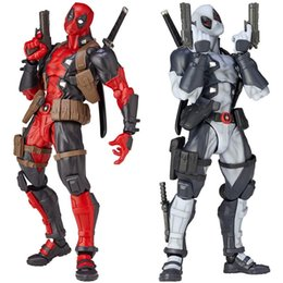 Kaiyodo Removeable Revoltech Marvel Superhero X-men Deadpool Wade Wilson Action Figure Marvel Sueprhero Model Toy cheap marvel deadpool action figure da meraviglia di azione di deadpool fornitori