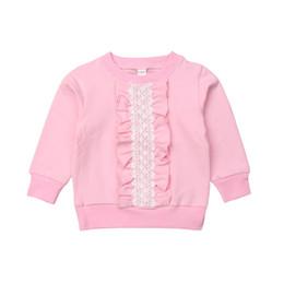 Bastante algodón cálido bebé niñas volantes sudaderas encaje floral suéteres Top Primavera Otoño Ropa de manga larga para niños pequeños Sudaderas desde fabricantes