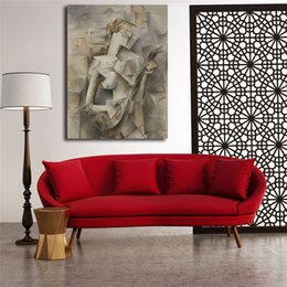 figure girl oil painting Coupons - Pablo Picasso Girl With A Mandolin HD Art Canvas Poster Painting Wall Picture Print Modern Home Bedroom Decoration Accessories