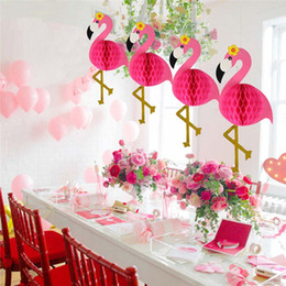 Flamingo Honeycomb Ball Ornaments Decoration Wedding Birthday Party Event Paper Lantern Honeycomb Flowers Home Decoration Yq00766