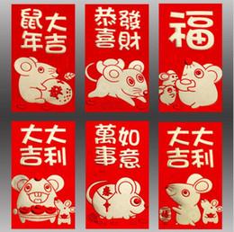 Kalın Kağıt 3D Kelimeler Desenler Karikatür Kırmızı Paket 2020 yılı Sıçan Çin Yeni Yılın Kırmızı Zarf Toptan 50 Paketleri 300 Adet nereden parlak kartlı kağıt tedarikçiler