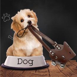 máscaras para a boca do cão Desconto Animal de Estimação Ajustável Boca Protetora Cão Anti-Mordida Máscara Anti Bark PU Respirável Suave Focinho Mouth Grooming Mastigar Parar Tamanho XS DBC DH0979