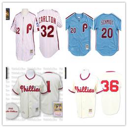 2d456278829 Discount mitchell ness baseball jerseys - Men's Philadelphia Mike Schmidt  Phillies Steve Carlton Richie Ashburn Robin