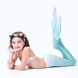 2019 trajes de baño princesa Traje de baño de sirena de cola de sirena para niño traje de bikini dividido - conjunto completo trajes de baño princesa baratos