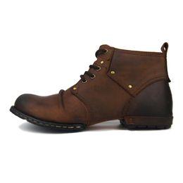 Warm Herren Lässig Plüsch Leder Stiefel Kurz Stiefel Schuhe Motorrad Reiten Für Arcx 39 45