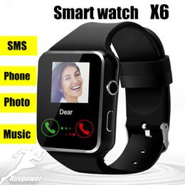 Argentina Smartwatch Curved Screen X6 con pantalla táctil de la cámara Compatible con la tarjeta SIM TF Bluetooth Smartwatch para Samsung Android iPhone con caja de venta al por menor supplier touch screen card Suministro