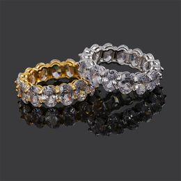 1ebd42cc174d nuevos anillos de oro de la boda Rebajas Bling CZ Piedra Hiphop Anillos  Pareja Boda Joyería