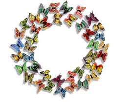 artisanat de feuille à la main Promotion Artificiel artificiel d'aimant de réfrigérateur de papillon de 3D aimants de réfrigérateur décoration à la maison
