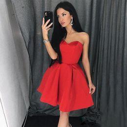 2019 пачки для девочек Простое бальное платье в форме сердца Возлюбленное платье Скромное мини-платье без рукавов с оборками на спине Выпускное платье Коктейльные выпускные платья