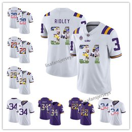 b27746e4d Custom 2019 LSU Tigers Jersey 28 Jalen Mills 28 Darrel Williams 34 Stevan  Ridley Purple College Football NCAA Jersey Any Number Names Jersey