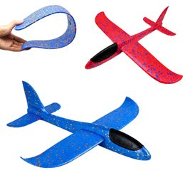 paper aircrafts Promo Codes - Kids Aircraft Model Toy EPP Foam Hand Throw Airplane Outdoor Launch Glider Plane Kids Gift Toy with box Kids Outdoor Game Toys SS242