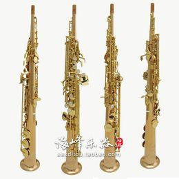 instrumentos de sopro retas Desconto New Yanagisawa S 902 B (B) Soprano Hetero Latão Tubo saxofone Marca Qualidade Musical Instruments ouro Lacquer Sax com caso