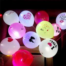 Balões de incandescência LED Logo colorido flash pequeno do balão do partido presente de casamento Decoração de incandescência balão personalizado Factory Direct de Fornecedores de brinquedos baratos grossistas