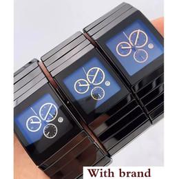 Ceramica xl online-Vendita di alta qualità di lusso RD Full Black ceramica XL movimento al quarzo Cronografo Mens Watch Cronometro maschile da polso