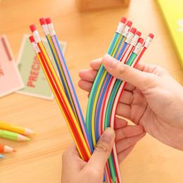 20Pcs Bendy Flexibler weicher Bleistift mit Radiergummi Bunte Student Stationary