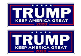 Novo 2020 EUA Eleição Presidencial Trump Bumper Adesivos de Carro Adesivos de Carro Com Lettering Donald Trump Presidente Adesivos 23 * 7.6 cm de