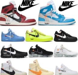 chaussure de sport balle mi-coupe Promotion JordanDEBLANC 1 Low 07 MCA Volt MoMA Chaussures de courseAirRetro 1 Chicago Off AirVaporMax Taille Blazer 36-45