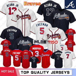 freddie freeman jersey Rabatt 13 Ronald Acuna Jr. Baseball Atlanta 5 Freddie Freeman 10 Chipper Jones Braves 150. Jahrestag 44 Aaron 3 Murphy genähtes