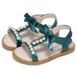 perle schuhe sandalen mädchen Rabatt Mädchen Sandalen 2019 neue Sommer Mode Mädchen Prinzessin Schuhe Perle Strand Sandalen Kinder Schuhe Kinder Designer Schuh Kleinkind Schuhe A2816