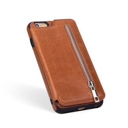 Iphone 5s hülle kartenhalter online-Retro pu ledertasche für samsung s8 9 plus iphone x 6 6s 7 8 plus xs 5s se multi kartenhalter phone cases für iphone xs max xr 10 abdeckung