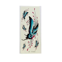 Argentina A estrenar Venta Caliente de Alta Calidad Pro Impermeable Temporal Tatuajes 3D Flor de Mariposa Tatuajes Falsos Etiqueta Al Por Mayor Al Por Menor al por menor Suministro