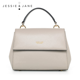 borse split Sconti JESSIE JANE Designer Brand 2016 Nuove signore Exquisite Split Leather Handbag 1261
