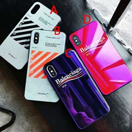 coperture viola del telefono Sconti vendita all'ingrosso caldo caso di telefono di lusso modelli di moda copertura posteriore del telefono del progettista vetro viola per iPhone XR XS MAX 6 7 8 Plus