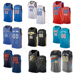 Camisas de equipe on-line-Screen Imprimir Basquetebol Shai Gilgeous-Alexander Jersey Chris Paul Steven Adams Danilo Gallinari Dennis Schroder Blue White Man Woman Youth
