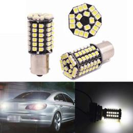 polizeiwagen strobe lichtleiste Rabatt Auto Blinker Bremsleuchte LED Glühlampen Rücklaufsperre S25 1156/1157 1210 80SMD P21W BA15S