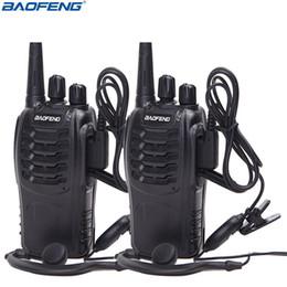 walkie talkie 2pcs Sconti 2Pcs Baofeng BF-888S Walkie Talkie UHF Radio bidirezionale BF888S Radio portatile 888S Comunicador Trasmettitore ricetrasmettitore + 2 cuffie