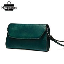 d90e670d472db weinlese grüne geldbeutel Rabatt Vintage Designer aus echtem gegerbtem Leder  schwarzgrün Frauen Wristlets Tasche Rindsleder weibliche