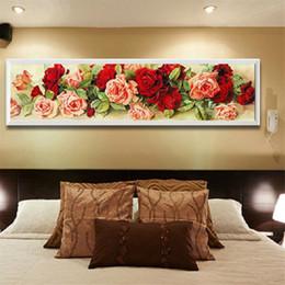 2019 strass artesanais 5D Rose Wall Diamante Bordado Pintura DIY Strass Ponto Cruz Artesanato Kit Home Decor Rose Padrão desconto strass artesanais