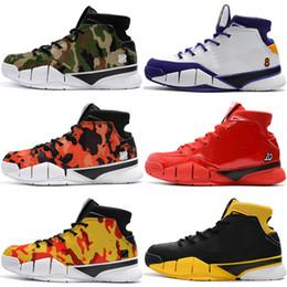 competitive price d5152 60f23 Kobe 1 Protro ZK1 Zapatillas de baloncesto para hombre Deportes para hombre  Reinado púrpura Invicto UND Camo Kobe 1S Hombres Zapatillas de deporte de  ...