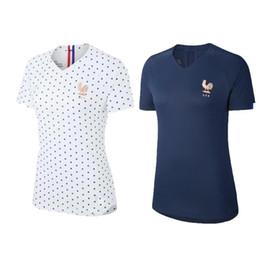 Argentina Copa Mundial Femenina 2019 Francia 17 Gaetane Thiney Jersey Lady Soccer 9 Eugenie Le Sommer 3 Wendie Renardrt Uniformes de fútbol azul blanco Suministro