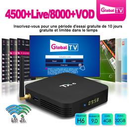 Lecteur multimédia 3d en Ligne-IPTV Box Android 9.0 TV Box 4 Go de RAM 32 Go Rom TX6 Allwinner H6 Quadcore 5G Wifi Bluetooth 5.0 3D 4K H.265 Lecteur multimédia