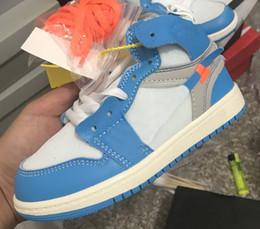scarpe da passeggio a fondo duro Sconti NUOVO Arriva Jointly Signed High OG 1s Scarpe da pallacanestro per bambini Chicago 1 Infant Sneaker Toddlers New Born Baby Scarpe da ginnastica per bambini