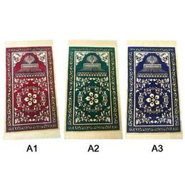 Esteras de oración musulmana online-Nueva manta de peregrinación Hui alfombra gruesa alfombra de oración musulmana islámica alfombra de oración alfombra portátil alfombra de oración islámica 65 * 110 cm