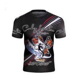 f127299c6 lutas do mma camisetas Desconto Cody Lundin Camiseta Compressão MMA Aptidão UFC  Luta Homens Muay Thai