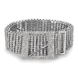 2019 cinturones de diamantes de imitación completa Mujeres Cinturón brillante Cadena Cintura Cristal Diamante Cintura Completa Rhinestone Lujo Fiesta ancha Cinturón Cintura para el vestido rebajas cinturones de diamantes de imitación completa