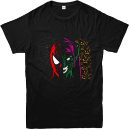 cara de diseño de la camiseta Rebajas Camiseta de Spiderman, camiseta Goblin Face spoof, estilo inspirado de diseño, estilo redondo, camiseta, camiseta personalizada de Jersey