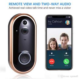 2019 telecamere di sicurezza per porte 1080P intelligente WIFI citofono del campanello del video anello campanello per porte con la macchina fotografica IR del portello di entrata Avviso di protezione senza fili Chime Door Cam allarme telecamere di sicurezza per porte economici