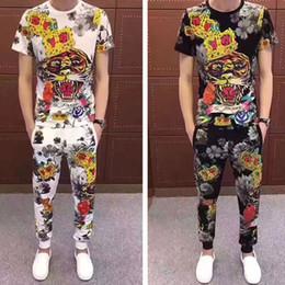 designer mens casual ternos Desconto Designer de luxo Mens Suor Ternos 19ss Nova Marca de Verão Mens Treino Define Jogger Jacket + Calças Sporting Terno Hip Hop Moletons