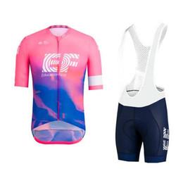 Argentina Tour mundial 2019 pro equipo EF rosa ciclismo jersey kits de manga corta bicicleta ropa ciclismo hombres verano bicicleta babero pantalones gel pad cheap men s pink bicycle jersey Suministro