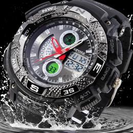 2019 orologio digitale a mano per gli uomini Orologio da polso elettronico maschio multifunzione Lancetta luminosa Marca Epozz Lusso montre homme digitale Orologi sportivi da uomo Regalo impermeabile orologio digitale a mano per gli uomini economici